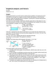 PY105(4): Graphical analysis and Vectors