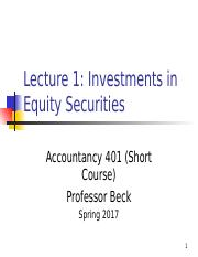 ACCY 401 Lect 1  Investments in Equity Securities(2)