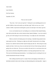 A Time of Fear- FYS- final draft rewrite