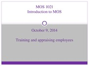 MOS+1021--Lecture+4+_Oct+9,+2014_--Training+and+Appraising+Employees+_STUDENT+SLIDES_
