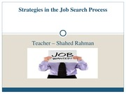 Chapter 9 - Strategies in the Job Search Process