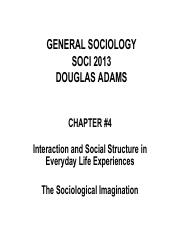 04 Social Structure and Interaction 09-20-16