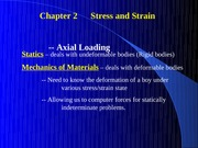 Chapter 2 Stress and Strain Axial Loading