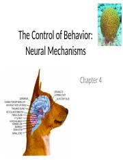 Chapter 4 – The control the behavior-1