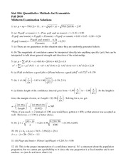 Stat 104 Fall 2010 Midterm Solutions