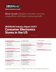 44311 Consumer Electronics Stores in the US Industry Report