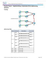 8.3.1.4 Packet Tracer - Implementing a Subnetted IPv6 Addressing Scheme).docx