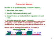 Lesson 2.2 Motion of Connected Masses