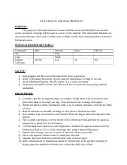LAB REPORT 4 - ISOLATION OF NATURAL PRODUCTS.docx