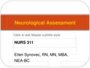 NeuroAssess Fall 2010