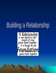 Building a Relationship.ppt