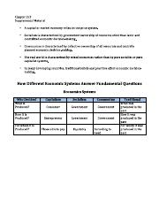 Honors Economics Chapter 1-2 Supplemental