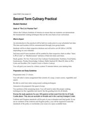 2nd Term Culinary Practical Student Handout 1