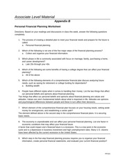 appendix b personal financial planning worksheet Chapter 1 personal financial planning 5 in the real world    l aurel marquez is a high school senior who works part-time at a sporting goods store she hopes to make enough money to  • • •  unit 1 planning personal finances 1 4.