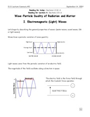 3-Wave Particle Duality of Radiation and Matter