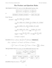 The_Product_and_Quotient_Rules