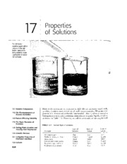 Chapter 17 - Properties of Solutions