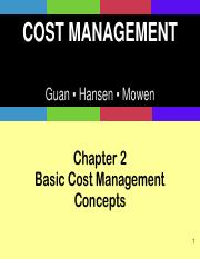 Ch02_Basic Cost Management Concepts PPT - THEORY