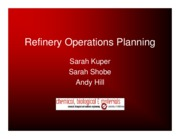 Refinery Operations Planning-Presentation
