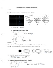 Ch6 Review Notes math 9