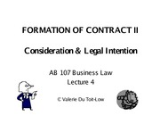 Contract-formationII
