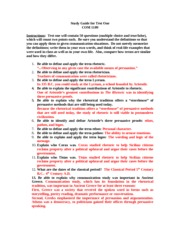 Study Guide for Test One Trenholm Annotated Fall 2011 with answers