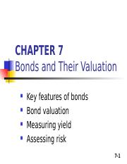 Lecture 4 (Chp 7) Bond valuation-FinMgmt5400 GSM.ppt