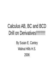 Derivatives Rules Practice PPt.ppt
