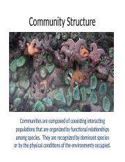 Ch 18 Community Structure