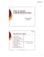 BA 2257 Lecture Slides How to Tackle Comprehensive Cases