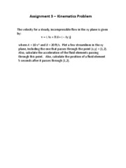 Assignment 3 - Kinematics Problem
