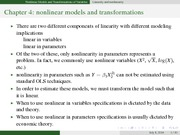 Nonlinear Models and Transformation(1)