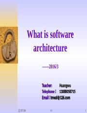 1.First_What is the softwarearchitecture.ppt