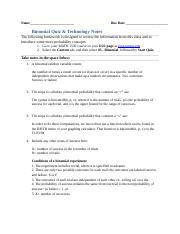5.Binomial Quiz & Technology notes.docx