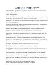 7AGE OF THE CITY terms