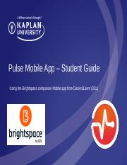 Brightspace Pulse Mobile App Student Guide_Kaplan University.pptx