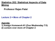 Stats 202 - Lecture 2