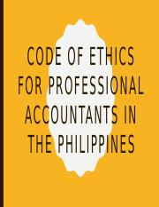 Code of ethics for professional accountants in the.pptx