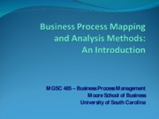 1.2 PROCESS MAPPING AND ANALYSIS METHODS INTRODUCTION (1)