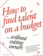 Faragher - how to find talent of a budget without cutting corners
