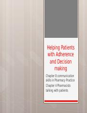 3.5 Helping Patients with Adherence and Decision making.pptx