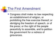 2--presentation--First Amendment
