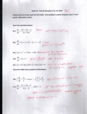 Math 55 Test #1 (Chapters 1-2) Fall 2014 SOLUTIONS (1)