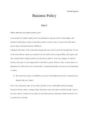 BUSINESS POLICY.doc