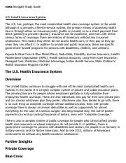 U.S. Health Insurance System Research Paper Starter - eNotes
