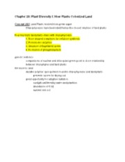 Biology 1202 Exam 3 notes