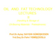 OIL+AND+FAT+TECHNOLOGY+LECTURES+III