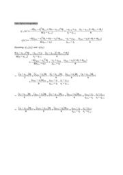 Cubic Spline Interpolation Derivation
