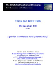 Think and Grow Rich Part 1