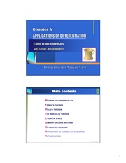 Microsoft PowerPoint - Chapter4 - APPLICATIONS OF DIFFERENTIATION